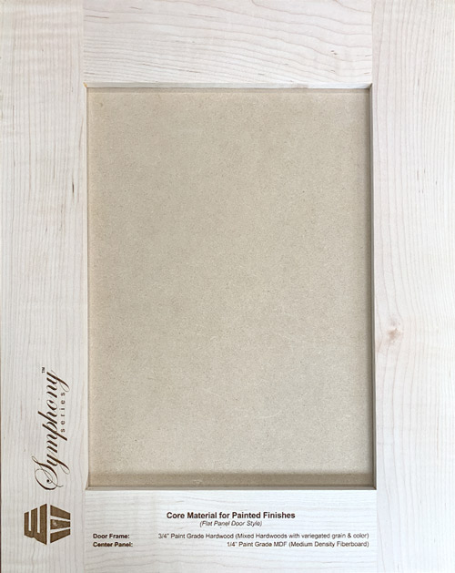 Core Material for Painted Finishes (Flat Panel Door Style)