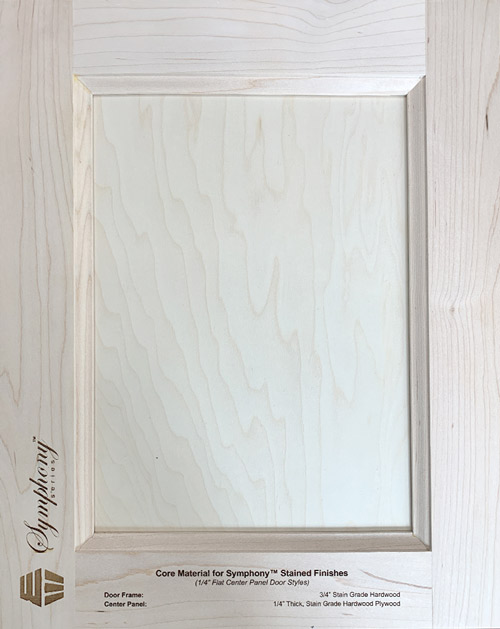 Core Material for Symphony™ Stained Finishes (1/4″ Flat Center Panel Door Styles)