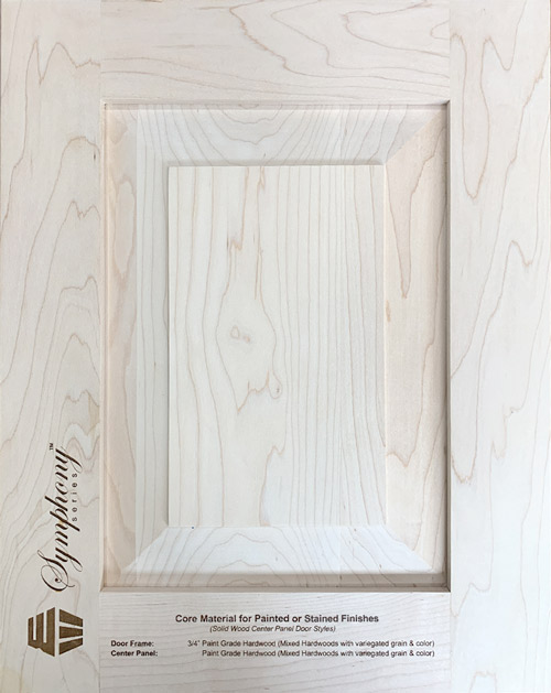 Core Material for Painted & Stained Finishes (Solid Wood Center Panel Door Styles)
